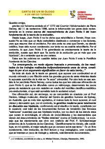 7 CARTA DE UN BIÓLOGO A UN AMIGO TURBADO