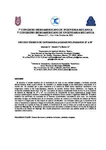 7º CONGRESO IBEROAMERICANO DE INGENIERIA MECANICA 7º CONGRESSO IBEROAMERICANO DE ENGENHARIA MECANICA México D.F., 12 al 14 de Octubre de 2005