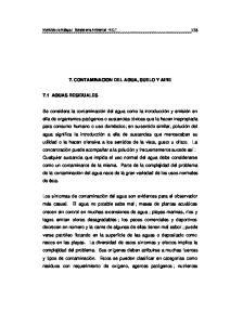 7. CONTAMINACION DEL AGUA, SUELO Y AIRE