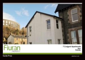 7 Craigard Apartments Oban PA34 5DJ Guide Price