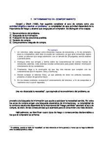 7. DETERMINANTES DEL COMPORTAMIENTO