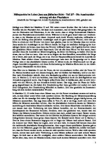 7 - Die Auseinander- setzung mit den Pharisäern