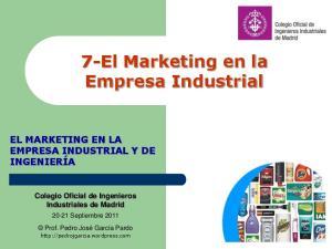 7-El Marketing en la Empresa Industrial