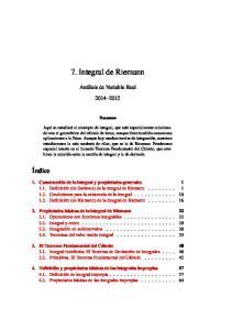 7. Integral de Riemann