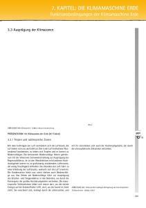 7. Kapitel: Die Klimamaschine Erde Funktionsbedingungen der Klimamaschine Erde