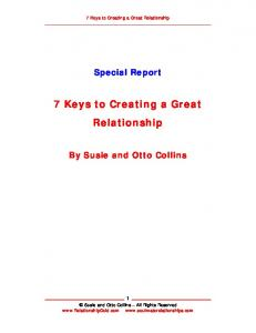 7 Keys to Creating a Great Relationship