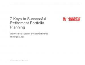 7 Keys to Successful Retirement Portfolio Planning