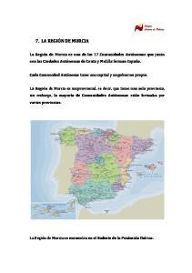 7. LA REGIÓN DE MURCIA