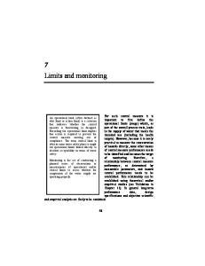 7 Limits and monitoring
