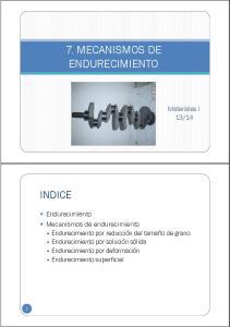 7. MECANISMOS DE ENDURECIMIENTO