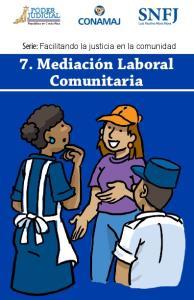 7. Mediación Laboral Comunitaria