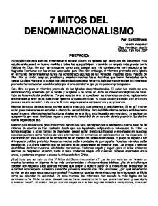 7 MITOS DEL DENOMINACIONALISMO