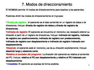 7. Modos de direccionamiento