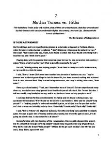 7 Mother Teresa vs. Hitler