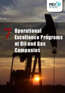 7 Operational. Excellence Programs at Oil and Gas