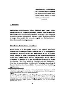 7. Photographie. Roland Barthes - Die helle Kammer - und die Trauer