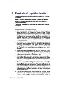 7. Physical and cognitive function