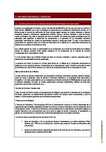7.- RECURSOS MATERIALES Y SERVICIOS