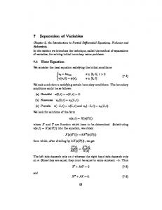 7 Separation of Variables