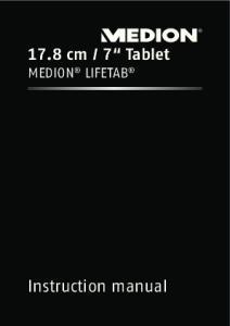 7 Tablet MEDION LIFETAB. Instruction manual