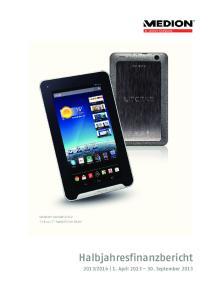 7 Tablet-PC mit WLAN. Halbjahresfinanzbericht