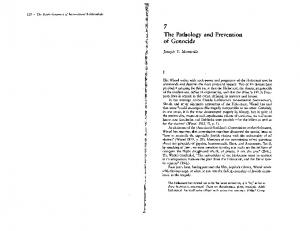 7 The Pathology and Prevention of Genocide