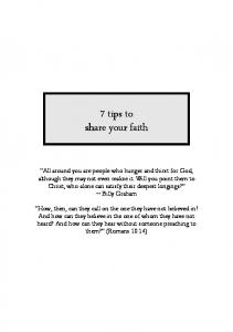 7 tips to share your faith