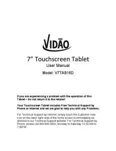 7 Touchscreen Tablet