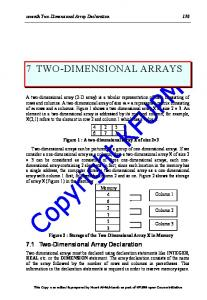 7 TWO-DIMENSIONAL ARRAYS