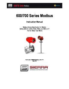 700 Series Modbus Instruction Manual
