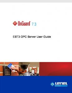 7.3. EST3 OPC Server User Guide