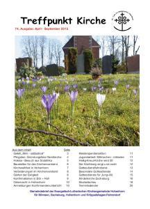 74. Ausgabe: April - September 2012
