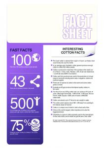 75 % INTERESTING COTTON FACTS