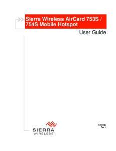 754S Mobile Hotspot User Guide