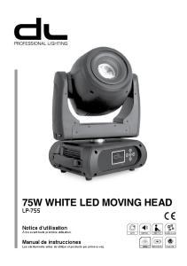 75W WHITE LED MOVING HEAD