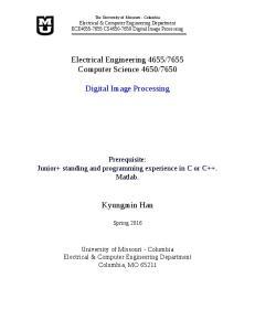 7650. Digital Image Processing