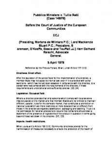 78) Before the Court of Justice of the European Communities ECJ