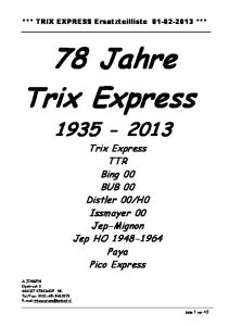78 Jahre Trix Express