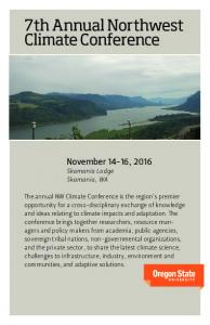 7th Annual Northwest Climate Conference