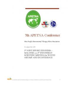 7th APETNA Conference
