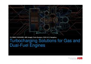 7th CIMAC CASCADES, ABB Jiangjin Turbo Systems, , Hangzhou Turbocharging Solutions for Gas and