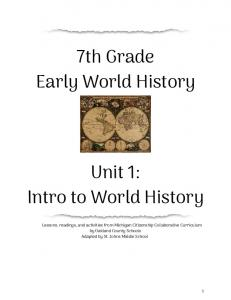 7th Grade Early World History