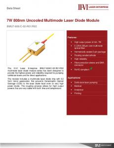 7W 808nm Uncooled Multimode Laser Diode Module