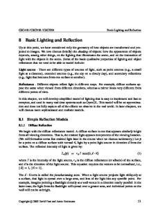 8 Basic Lighting and Reflection