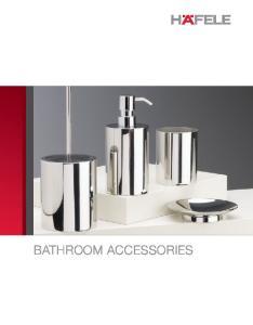 8 BATHROOM ACCESSORIES