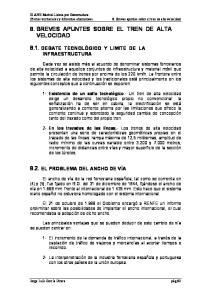 8. BREVES APUNTES SOBRE EL TREN DE ALTA VELOCIDAD