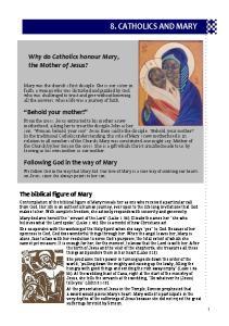 8. CATHOLICS AND MARY