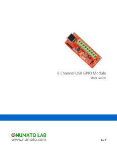 8 Channel USB GPIO Module User Guide.  Rev 7