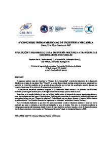 8º CONGRESO IBEROAMERICANO DE INGENIERIA MECANICA Cusco, 23 al 25 de Octubre de 2007