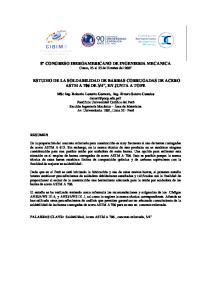 8 CONGRESO IBEROAMERICANO DE INGENIERIA MECANICA Cusco, 23 al 25 de Octubre del 2007